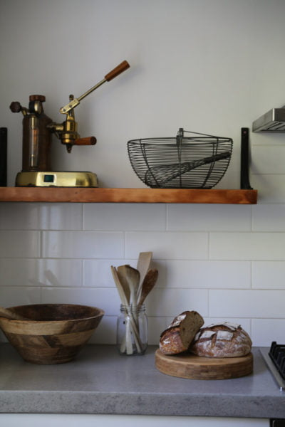 Handmade open shelves